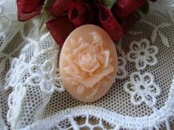 12904 Камея «Персиковая роза».