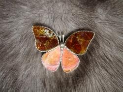04553 Брошь «Каменная бабочка»