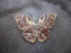 04905 Брошь «Каменная бабочка»