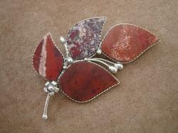 04952 Брошь «Каменный листок»