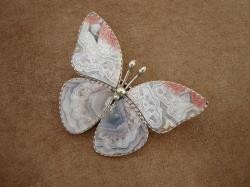 04970 Брошь «Каменная бабочка»