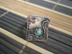 05464 Кольцо «Бирюзовая фантазия»