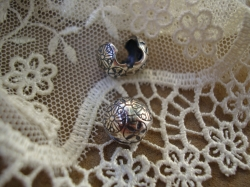15795 Клипса-стоппер «Каменный цветок»