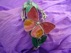 05896 Браслет «Турмалиновая бабочка»