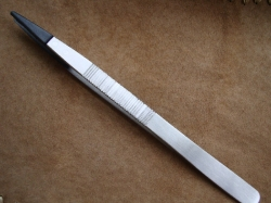06218 Пинцет ювелирный с пластиковыми губками, 160мм