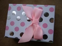 08710 Коробочка подарочная для серег, кольца и кулона.