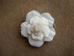 09155 Застежка-зажим «Перламутровая роза»